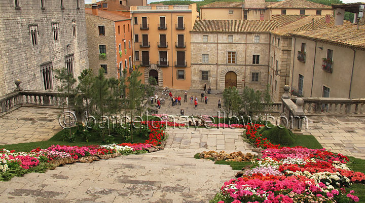 girona_cathedral_steps_flower_festival