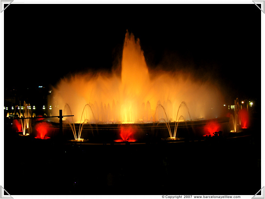 Barcelona Magic Fountains Montjuic