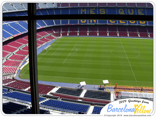 Camp Nou stadium stands