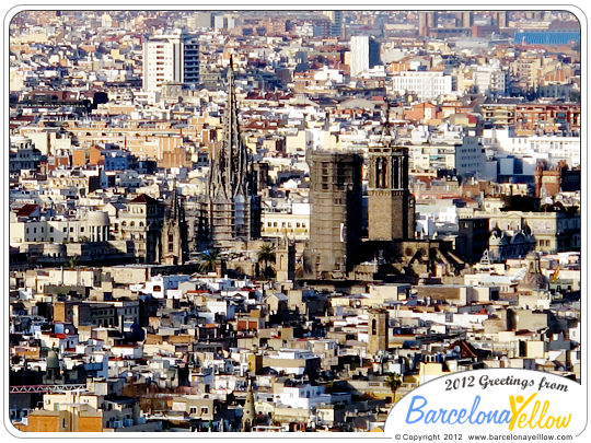 Barcelona Cathedral aerial