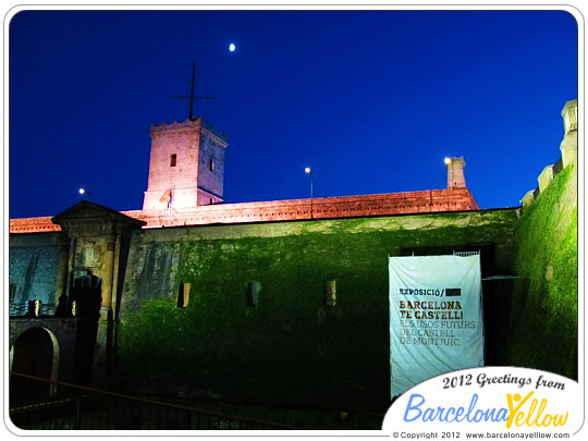 Castell de Montjuic night