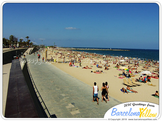 Barcelona beaches in Sant Marti area
