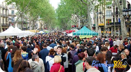 Barcelona 2018 sant jordi day barcelona rose book for Piscinas sant jordi barcelona