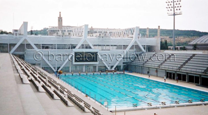 barcelona_bernat_picornell_swimming_pool - Olympic Swimming Pool Top View