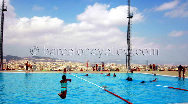 Barcelona 2018 Barcelona Olympic Swimming Pools On Montjuic Hill