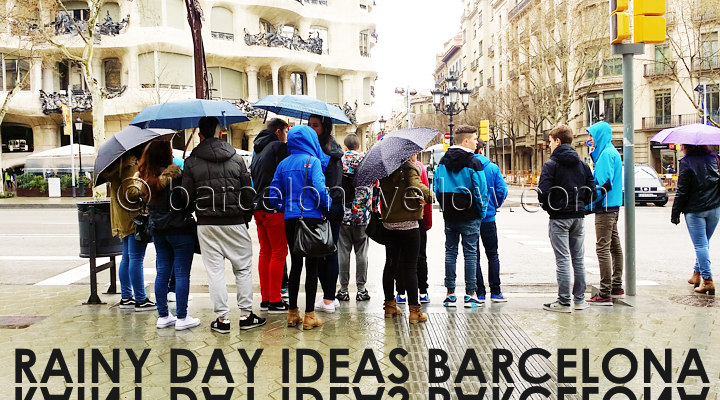 Things to do when it rains Barcelona